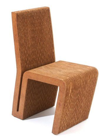easy edge chair by frank gehry