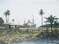a jamaican bay by claude muncaster