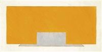 untitled (yellow and grey) by richard smith