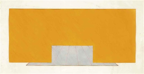 untitled yellow and grey by richard smith