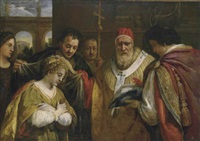 saint domitilla receiving the veil from pope clement by pietro da cortona