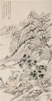 深林茅庐图 by liu zhao