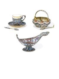 sugar bowl (+ spoon; 2 pieces) by maria semenova