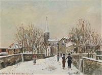 église de pont-saint-martin by maurice utrillo