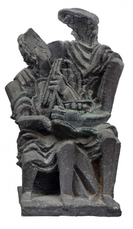 couple with a guitar by ossip zadkine