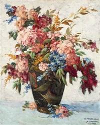 sommerblumenstrauß in der vase by daniel sabater y salabert