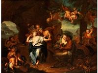 dionysos wirbt um ariadne by antoine coypel