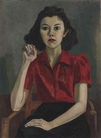 portrait (roberta johnson roensch) by alice neel