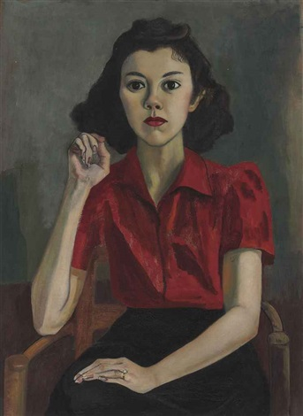 portrait roberta johnson roensch by alice neel