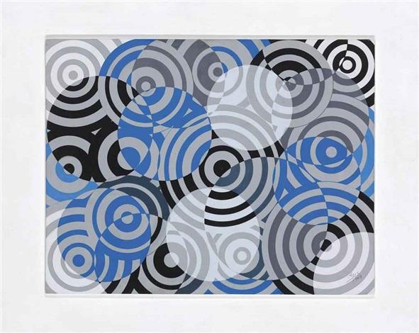 interférences en gris et bleu (no. 637) by antonio asis