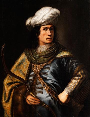 halbbildnis eines orientalisch gekleideten herren by jan victors