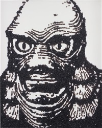 creature from the black lagoon (from caviar monsters) by vik muniz