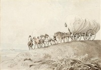 horse-drawn wagon by william samuel howitt