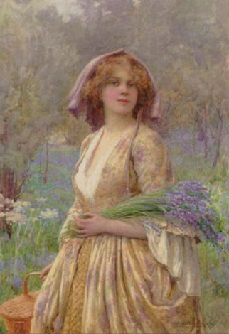 gathering bluebells by william f ashburner