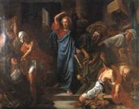 jesus chassant les marchants du temple by frédéric théodore lix