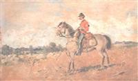 soldado a caballo by manuel alcazar y ruiz