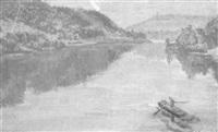 rowing on the delaware by faye (swengel) badura