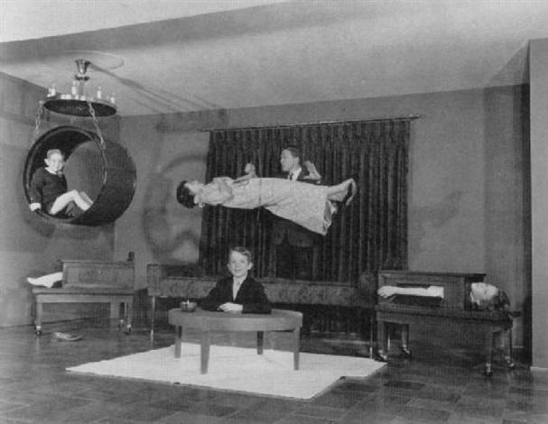 baron la velle (lawrence jones) in his home theater, louisville, kentucky, february 17, 1962 by stern j. bramson