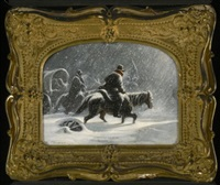 snowy ride by charles wimar