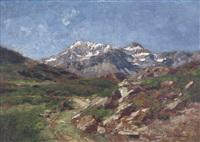 paesaggio montano by eugenio gignous