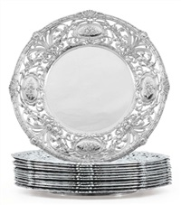 plates (set of 12) by redlich (co.)