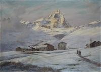 paesaggio montano con cervino sullo sfondo by leonardo roda