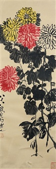 菊花争艳图 (chrysanthemums) by qi baishi