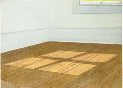 floor with light at noon by sylvia plimack mangold