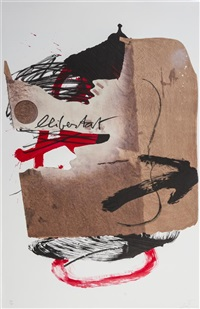 arrow (from the official arts portfolio of the xxivth olympiad, seoul, korea) by antoni tàpies