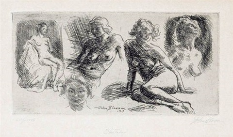 nude sketches by john french sloan