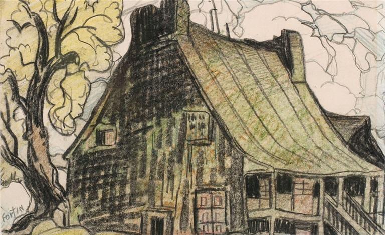 Vieille maison canadienne, St-Vincent de P by Marc-Aurèle ...