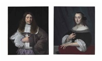 portrait of andries rijckaert; portrait of susanna rijckaert (pair) by isaac luttichuys