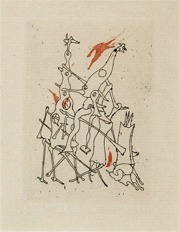from minuits pour geants by tristan tzara by yves tanguy