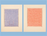 bochumer sheet no. 11 and 12 (2 works) by rolf-gunther dienst