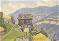 chales au mayene d'heremence (valais) by hermann cabrin