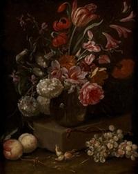 bodegón de flores y frutas by abraham brueghel