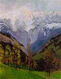 alpenlandschaft by carl adolf korthaus