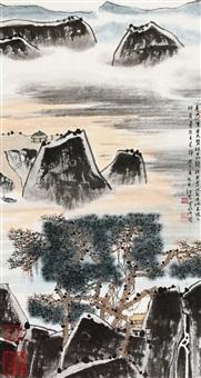 松溪觅诗 (landscape) by jiang hong