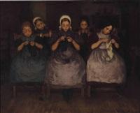 a knitting class by wally (walburga wilhelmina) moes