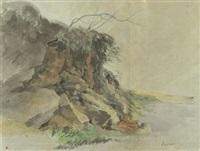 landschaft mit felsen by johann jakob dorner the elder