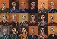 ya eshche zhivoy, mertv uzhe ya (from masks, 18 works) by natalia nesterova