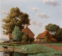farmstead ter weer, wassenaar by cornelis raaphorst