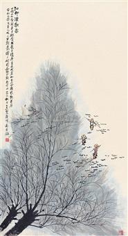 江邨渔歌图 by xia mingyuan