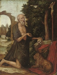 the penitent saint jerome by lucas gassel