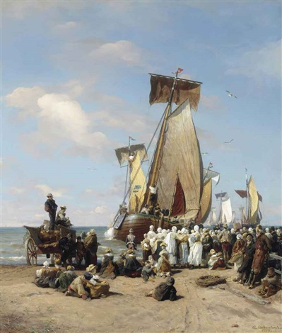 farewell to the fleet by andreas achenbach