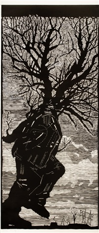 walking man by william kentridge