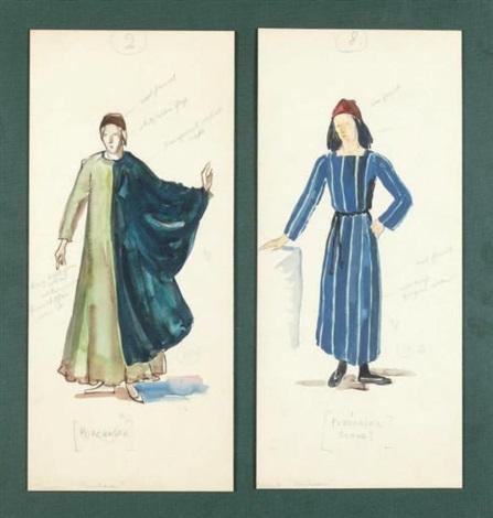 deux projets de costume pour un ballet de leonid massine by pavel tchelitchew
