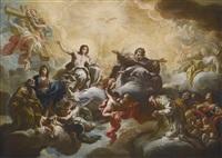 the virgin presenting saint nicholas to the holy trinity by corrado giaquinto