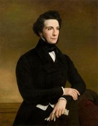 portrait d'homme aux gants blanc by jules (jean-françois-hyacinthe) laure