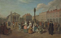 a view of covent garden, london, on market day by pieter angillis